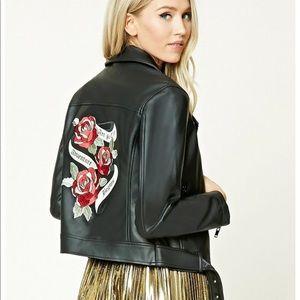 NWOT Faux Leather Moto Jacket